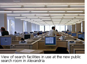 Picture of new public search room